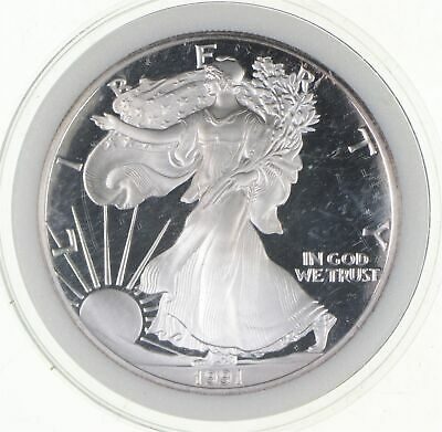 PROOF - NICE - 1991-S American Silver Eagle - DEEP CAMEO Proof - Rare *793