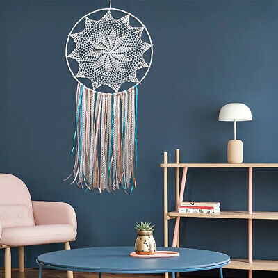 Large Dream Catcher Fringed Handmade Wall Hanging Room Decoration White Lace New
