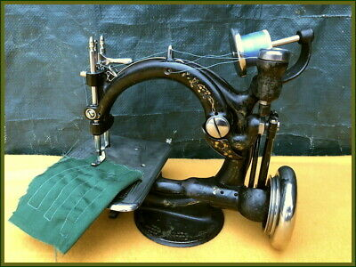 Cute Lil Old Willcox & Gibbs ~Rear Side Medallion~ Antique Sewing Machine