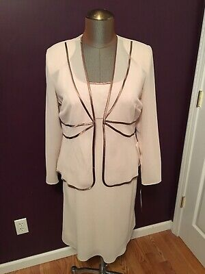 954a02a6292 NWT Patra Mother of the Bride Groom Formal Dress Womens Size 14 Champagne  Taupe