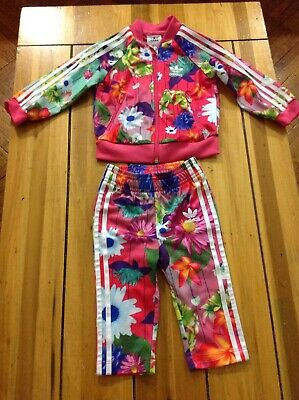 buy online db7da 46468 Baby Girls Adidas Originals Graphic Superstar Tracksuit Multi floral Size 9m