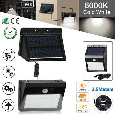 Waterproof 20-30 LED Solar Power Motion Sensor Wall Light Outdoor Garden Lamp