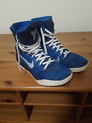 best service 2655d 2479e Kobe 9 Elite High Legacy Brave Blue 630847-404 Size 9 Rare Basketball Shoes