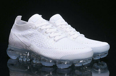 NIKE AIR VaporMax Flyknit 2.0 2018  MEN(White) and (White)Running Trainers Shoes