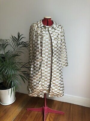 vintage retro 60s dress and jacket set
