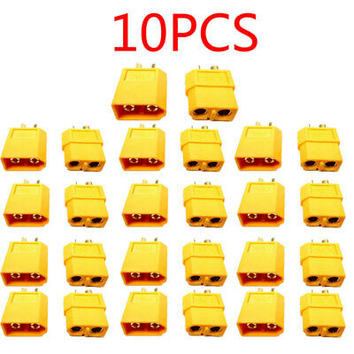 1/3/5/10PCS XT60 Bullet Connector Plug Male + Female For RC LiPo Battery Charger