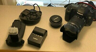 Canon EOS 7D Mark II 20.2MP Digital SLR Camera with Two Lenses and More