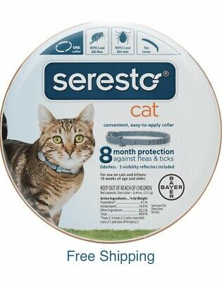 Bayer Seresto Flea and Tick Collar for Cats all Weights 8 Month Protection New