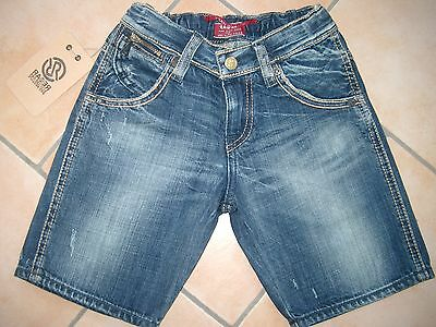 (50) Coole RARE-The Kid Boys used look Jeans Bermuda Hose mit Stickerei gr.128