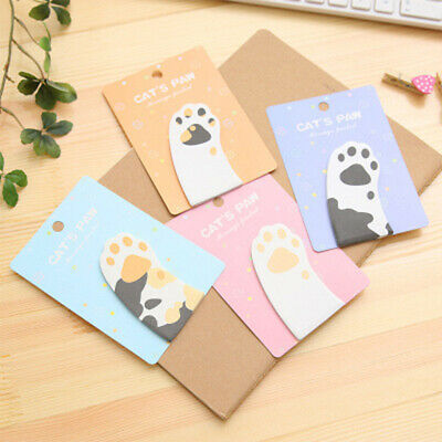 Self-Adhesive Sticky Notes Exquisite Mini Cat Paw Memo Notepad Notebook Memo Pad