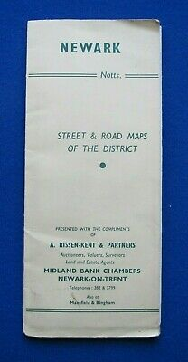 Street Plan fold-out map - Newark on Trent    c1965