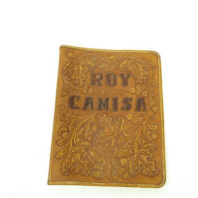 Vintage JM Capriola Personalized Hand Tooled Leather Binder Address Book