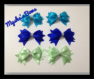 Large Satin Bow hair clips for toddlers / Girls