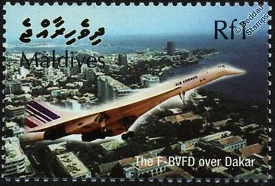 Air France CONCORDE F-BVFD (Dakar) Supersonic Airliner Aircraft Stamp