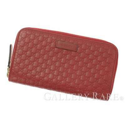 c75d46313c63 GUCCI Micro Guccissima Leather Red 449391 Zip Around Wallet Authentic  5336098