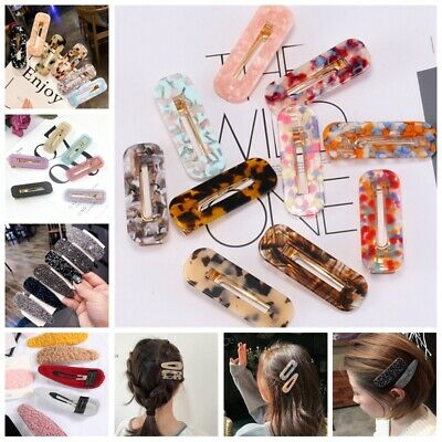 2019 Women Elegant Crystal Barrette Hair Clip Snap Hairpin Headdress Accessories