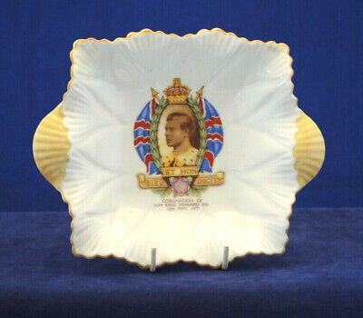 Shelley 1937 Edward Viii Coronation Pin Dish Exc Condition #16