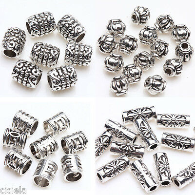 50/100 Pcs Tibet Silver Plated Loose Spacer Beads Charms Jewelry Making DIY New