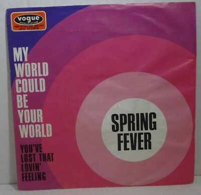 """SPRING FEVER - My World Could Be Your World > 7"""" Vinyl Single, vogue 1970"""