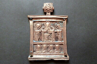 ORTHODOX ICON ANCIENT RUSSIA 17th cent diptych BRONZE JESUS  the old believers