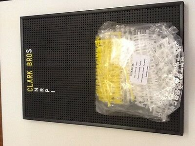 Peg Board with Changeable Letters included 915x610 mm Econ 4 Brand New