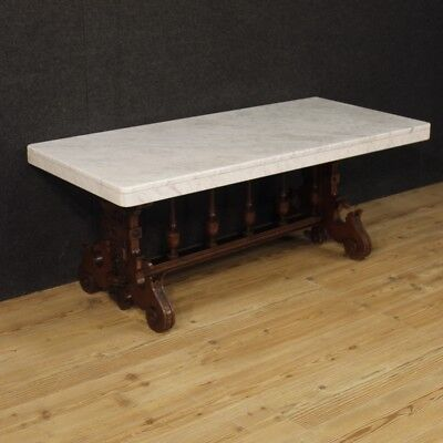 Small Table Low Living Room Furniture Wood Dutch Antique Style Level Marble