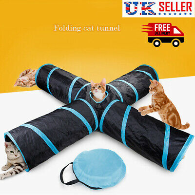 Pet Tunnel Outdoor Cat Puppy Dog Training Run Exercise Playing Tube 4/5 Way UK