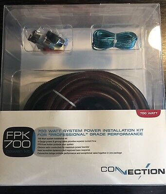 CONNECTION FPK700 CAR AUDIO STEREO 4 GAUGE//4AWG AMPLIFIER POWER INSTALLATION KIT