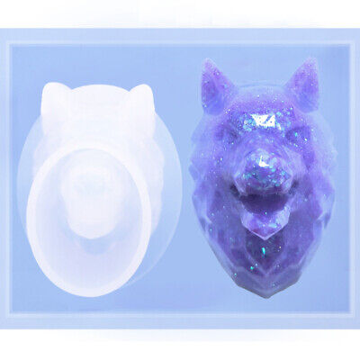 3D Wolf Shape Aromatherapy Gypsum Mould Resin Casting Mold for DIY Ornament