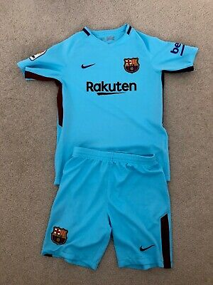 release date f5305 f0cbc BARCELONA 3RD KIT Boys football Top And Shorts Age 10-12