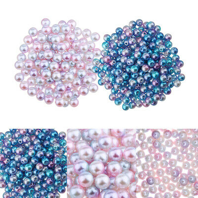 1000pcs wholesale 8mm Imitation Pearl spacer Beads Craft Jewellery finding JE17