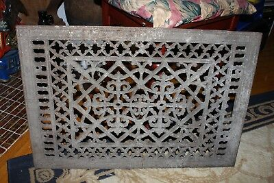 Antique Ornate Cast Iron Grate Vintage Wall Floor Register Vent Art Deco
