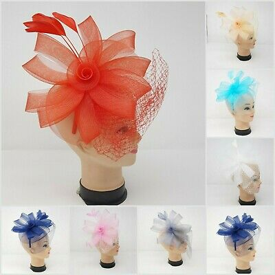 Elegant  Headband and Clip Fascinator Wedding Races Royal Ascot Occasion Party