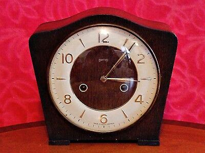 Vintage Art Deco 'Smiths' 8-Day Striking Mantel Clock