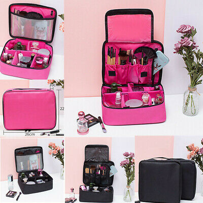 Large Professional Makeup Bag Cosmetic Case Storage Handle Organizer Travel Kit