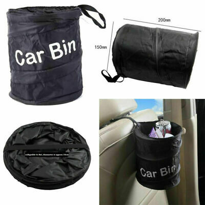 Collapsible Car Bin Water Resistant Black Litter Waste Rubbish Trash Bag Boat