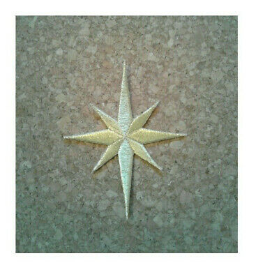 """Embroidered Metallic Gold Church Vestment Christmas Nativity Star 6.5/""""H"""