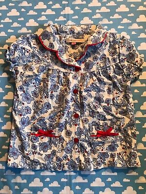 John Lewis girls floral blouse.bows,pockets,red buttons.shirt.top.summer12-18