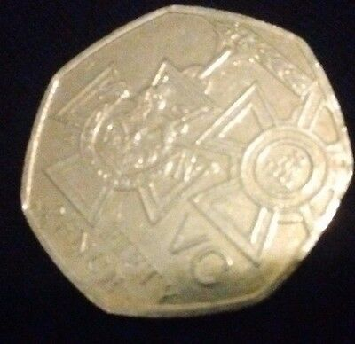 Rare Elizabeth II Fifty Pence 50p Coin Victoria Cross Medal 150 Years 2006