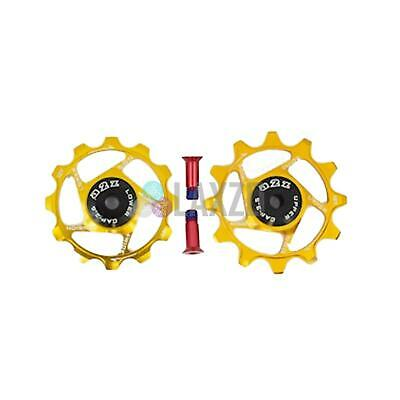 Bycycle Sram Derailleur Pulleys Narrow Wide For Bikes (12+12T,Gold)