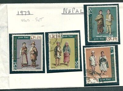 NEPAL 1973 SET USED STAMPS NEPALESE COSTUMES Sc#264-267 -CAG 220319