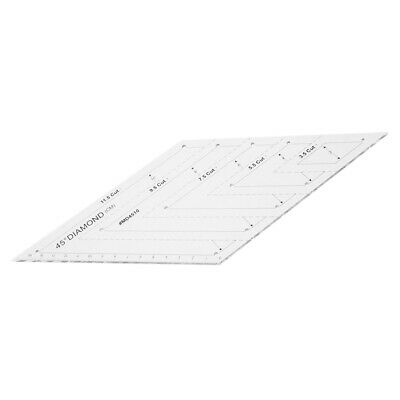 60 Degree Diamond Rhombus Quilting Ruler Template for DIY Quilting Craft