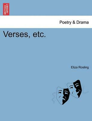 Verses, Etc. by Eliza Rosling (English) Paperback Book Free Shipping!