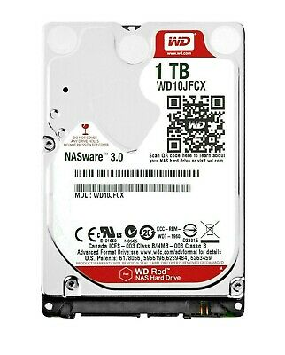 "WD Red 1TB 2.5"" (WD10JFCX) SATA 6Gb/s Western Digital Laptop Hard Drive LOW POHs"