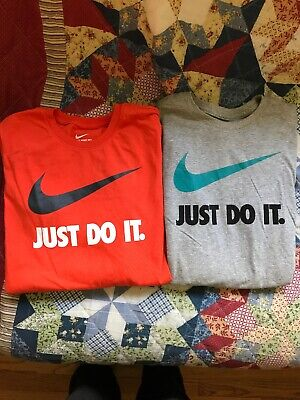 6fc3d593 NIKE YOUTH BOYS Just Do It Swoosh Graphic Long Sleeve Shirt White ...