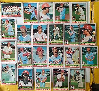Topps 1976 Chicago White Sox 22 card lot