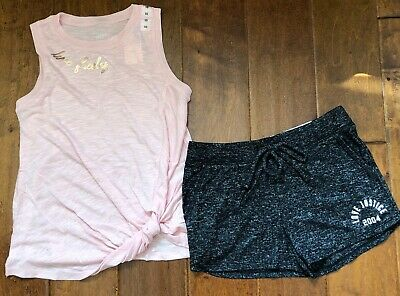 NWT JUSTICE Girls 14//16 Gray//Black Sport Dolphin Shorts