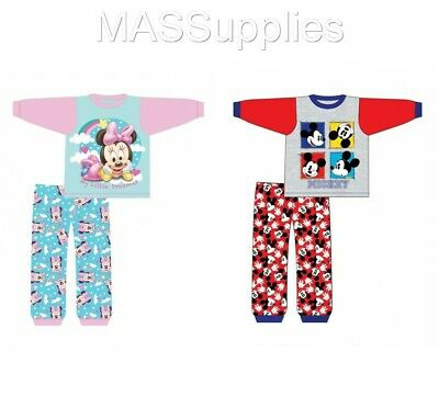 Baby Boys Girls Mickey Minnie Mouse Disney Pyjamas Pajamas Gift 18-24 Months
