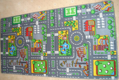 Extra Large Childrens Road Town Car Play Mat Rug ~ New