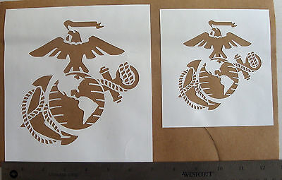 SET OF STENCIL Pattern Template Marine Corps USMC Eagle Anchor painting  airbrush